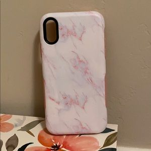 Bold pink marble case iPhone XR
